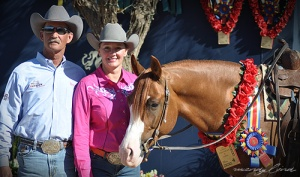 John O'Hara and Kimberly Tillman with TA Mozart after his 2012 Scottsdale Arab Open Futurity win.