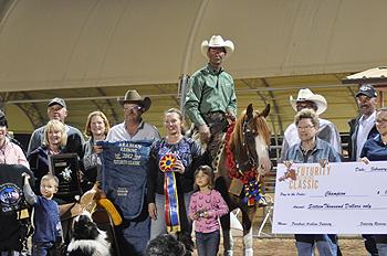 TA Mozart-2012 Scottsdale Arabian Reining Futurity Champion